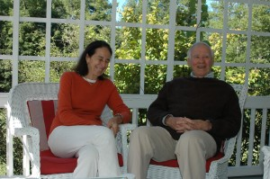 Liz and Dick Meryman in the summer of 2013 when they were interviewed for the Advocate by Rusty Bastedo (November 2013). Photo by Sally Shonk