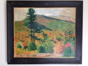 Oil on board by Richard Meryman. Private Collection