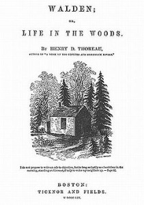 Original title page of Walden features a picture drawn by Thoreau's sister Sophia.