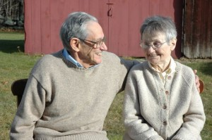 Bob and Mary Weis at the farm. Photo by Sally Shonk