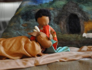 """Puppets from """"Akimba and the Magic Cow"""" at last year's Cobb Meadow School puppet show and silent auction."""