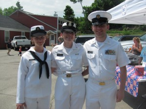 Three members of the Letourneau family attend last year's parade.