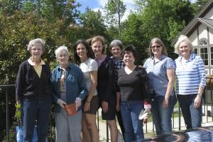 Volunteers from the Garden Club of Dublin (L-R): Louisa Birch, Alice McKenna, Grisel Levene, Connie Cerroni, Karen Bunch, Celeste Snitko, Louise Werden, and Jinnie Russell. Photo by Marney Bean.