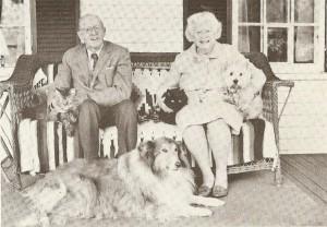 Edric and Gertrude Weld c. 1970; photograph courtesy of The Dublin Historical Society.