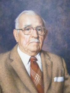 The portrait of Beech Hill Founder John Supple painted by Richard Whitney in 1978. Photo by Rick Swanson, Historical Society of Cheshire County.