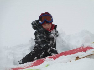 Quinn Boyd on sledding day at his grandparents' house.