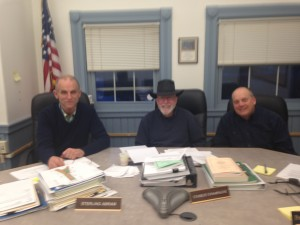 Selectmen Sterling Abram, Charlie Champagne, and Sturdy Thomas. Photo by Sherry Miller, Town Administrator