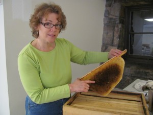 At the Beekeeper's program held April 12th at the library, Jodi Turner shared a wealth of materials and expertise about how to raise happy bees for the ultimate reward of natural honey.