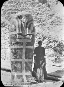 Sarcophagus from tombs of Yuya and Thuya, discovered in 1905. Photo courtesy of the Dublin Historical Society