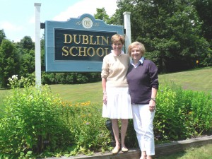 Martha Reed Murphy (left) and Prudence Robertson, both of Dublin, are Co-Chairmen of the Garden Club of Dublin's Flower Show to be held at the Dublin School September 16th and 17th.