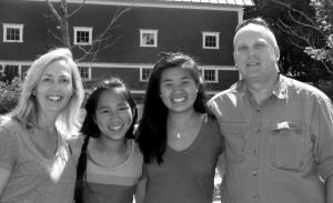 The Thomas family – Heidi, Anya, Olivia and Sturdy.