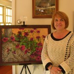 Maryann Mullett, pastels, and Alicia Drakiotes, oils, who also exhibited on Dooe Road. Photo by Ramona Branch