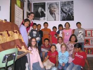 A fourth grade class at Little Wound School, Kyle, South Dakota, 2009.