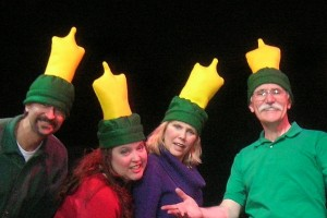 Dave Nelson, Beth Signoretti, Kathy Manfre and Ken Sheldon join the Speed Bumps band at Frost Heaves, December 12-14 at the Peterborough Players theatre.