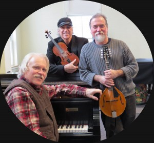 The concert features Rodney Miller on fiddle; David Surette on guitar, mandolin and bouzouki; and Gordon Peery on piano.