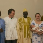 Jordan Macy of Marlborough will speak at the Dublin Community Center on Saturday, January 31, at 7 pm. Jordan, his wife Lauren and their baby son, returned last summer from living and working in Ghana (shown here in the Ghana naming ceremony). He will show slides of Ghana and talk about their many experiences while there: fire festival, naming ceremony, baby dance, drumming and dancing, rainy season, dry season, bushfires, cotton farming, sanitation, indoor water, and health clinics.