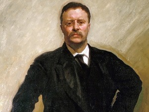 Theodore Roosevelt painted by John Singer Sargent in 1903.