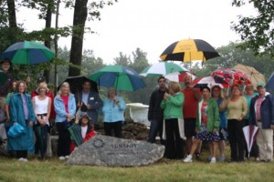Many attended the dedication of Pierce Meadow.
