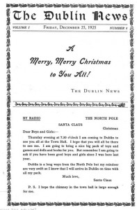 Another look at Christmas in Dublin in 1925