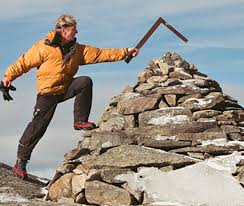 Larry repaired this cairn located on the White Dot trail as you leave the summit.