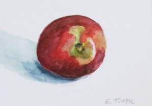 Edie Tuttle will be showing her watercolors at the Harrisville General Store from May 16 through June 15.