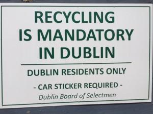 dump sign