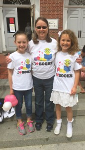 Margaret with two of this year's students (Anna-Kate Curtin and Hadley Bates) when her class danced for the eighth year with Deb Giaimo's Monadnock Mavericks in Children and the Arts Day.