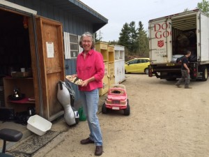 "Jane Holmes is one of many volunteers at the ""Swap Shack"" at the Transfer Station."