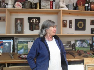 Photo of Georgia Fletcher taken during the 2013 Art Tour by Margaret Gurney