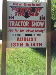 The International Tractor Show will be held August 13 & 14th at the Cricket Hill Farm Field in Dublin on Rte. 101. This show features International tractors and equipment, solely. Food will be available for hungry spectators! The public is welcomed.