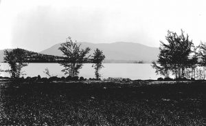 """View from Lochstead (W. K. Browne's House),"" c. 1895. Reprinted with permission of the Dublin Public Library: Image # 159 in the Dublin Public Library's Henry D. Allison Glass Negative Collection."